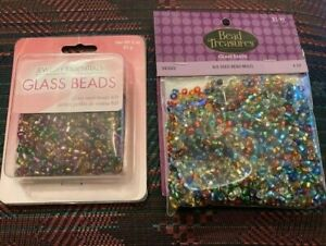Lot of 7 oz Sead Beads Assorted Colors Art Craft Supplies Bulk Glass 6 0 size