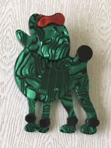 Unique Large poodle Pin Brooch In acrylic $18.00