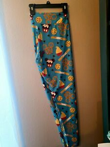 Disney Parks Exclusive Disney Snacks Leggings New With Tags Churro Dole Whip $28.00