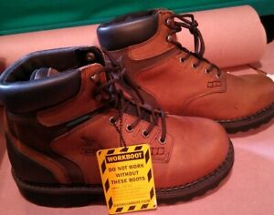 Georgia Men#x27;s 6quot; US 10W G7134 Waterproof Non Safety Lacer 6quot; Work Boots. New