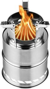 CANWAY Camping StovePortable Stainless Steel Wood Burning Stove