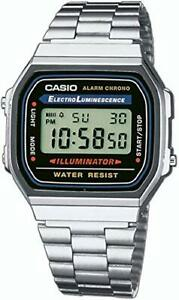 Montre Mixte Casio Collection A168WA Bracelet Collector Quartz Retro Chrono