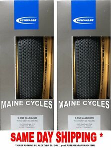 Schwalbe G ONE ALLROUND ADDIX tubeless clincher 700 x 38 black tan 2 tires $99.90