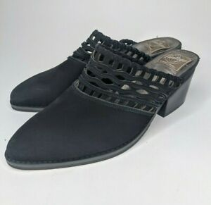 VINTAGE by Jeffrey Campbell Weaved Cut Out Leather Mules US 9 M $12.79