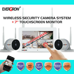 2 Way Audio 1080P Wireless Security Camera System with 7#x27;#x27; Monitor Night Vision $168.00