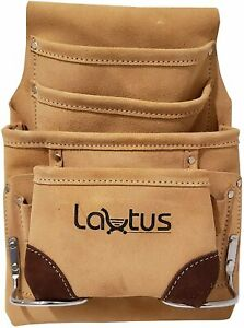LAUTUS Leather Tool Pouch Bag Carpenter Construction Framers Handyman 2...