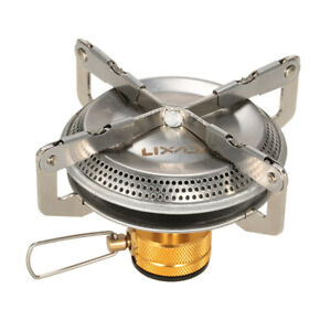 Portable Gas Camping Stove Outdoor Hiking Picnic Cooking 3500W Ultralight N1S4
