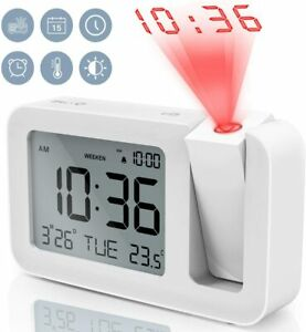 TedGem Projection Alarm Clock for Bedrooms Digital with Large... $34.69