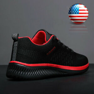 Mens Running Shoes Athletic Fashion Casual Tennis Non slip Walking Sneakers Gym $17.99