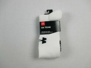 Under Armour Socks Unisexs White Over the Calf Socks NEW L $8.54