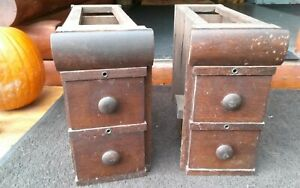 ANTIQUE TREADLE SEWING MACHINE DRAWERS SET OF 6 DRAWERS amp; 2 FRAMES $45.00