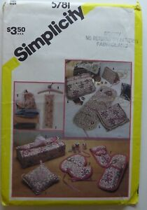 Simplicity Pattern #5781 one size; FEMININE ACCESSORIES sewing bags sachets box $9.99