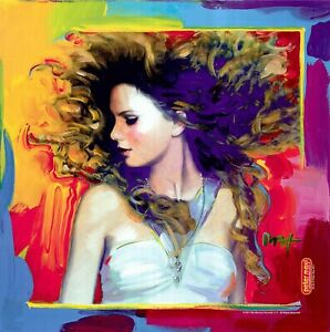 PETER MAX POSTER TAYLOR SWIFT APROX SIZE 24X24 PRINT SIGNED $70.00