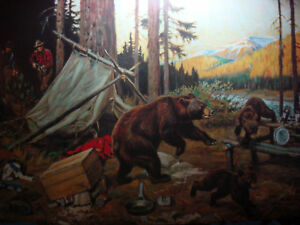 PHILIP GOODWIN PRINTS CABIN ART VINTAGE LOT 9 DIFF BEAR HUNTER LITHOGRAPH $46.00