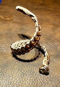 Brown braided Leather Bracelet Size Small L. 7.5 inch W. 1cm