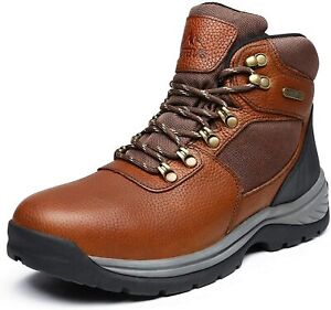 NORTIV 8 Men#x27;s Mid Ankle Waterproof Hiking Boot Military Tactical Leather Boots