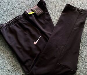 NWT Mens Nike XL Black White Embroidered Dri Fit Knit Athletic Pants XL $55 $44.99