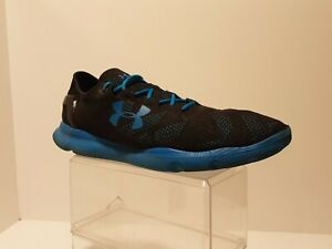 Under Armour Speedform Art # 1252287 005 Size 12US Black Blue Aqua 211525 $39.99