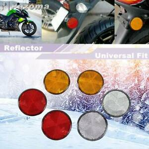 2Pcs Round Reflector Plate Universal Fit Motorcycle Trailers Bike Accessories