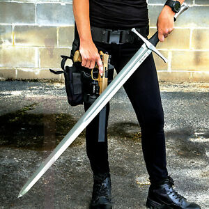 """43 1 2"""" Broadsword w Scabbard 1060 HIGH CARBON STEEL BLADE Medieval Viking NEW $205.99"""