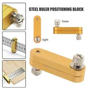 Steel Ruler Positioning Block Stop Block Woodworking Locator Line Tools 1 x Q5U8 $4.67