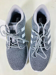NEW Adidas Womens QT Racer GRAY White Memory Foam Running Shoes PICK SIZE $32.89