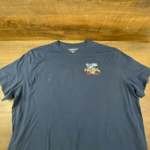 Fishing T Shirt A Reel Good Day Fishing Guides Big amp; Tall Size 4XL Blue
