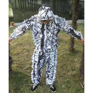 Adult Outdoor Snow Camo Camouflage Clothing Sniper Hunting Ghillie Suit Woodland