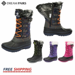 DREAM PAIRS Kids Boys Girls Insulated Waterproof Fur Lined Snow Boots Ski Boots $25.99