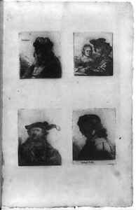 Restrikes of four Rembrandt etchingsc1805Old Bearded Man in Fur CapSaskia $11.00