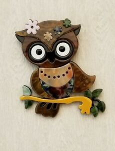 Unique Large Owl brooch pin $14.00