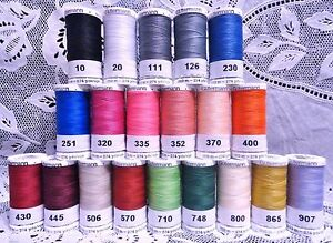20 NEW different GUTERMANN 100% polyester sew all thread 274 yard Spools $56.50