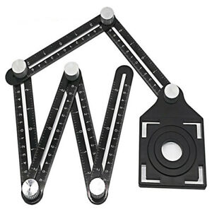 Aluminum Alloy Universal Six Sided Angle Ruler Measuring With Hole Locator $15.49