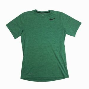 Nike Running Dri Fit Men's Small S Short Sleeve Green Striped Shirt Activewear $15.99