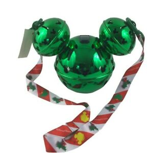 New Disney Park 2020 Christmas Holiday Green Mickey Jingle Bell Light Up Sipper $37.99
