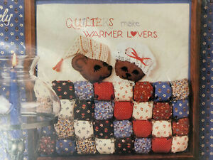 Mice in Puffy Patchwork Bed Quilters Make Warmer Lovers Vintage Kit NIP 13x13 $12.00