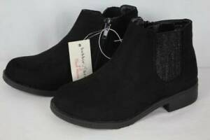NEW Youth Girls Black Ankle Boots Size 11 Zip up Fashion Shoes Dressy Casual $10.99