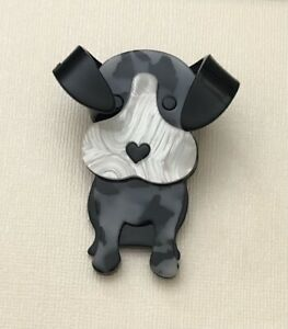 Unique Large Dog Pin Brooch In acrylic $18.00