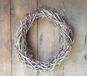 18quot;x17quot;x3quot; Round Handmade Large Grapevine Wreath Candle Decor Dawn Morning #28 $79.99