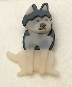 Unique large Dog Brooch Pin In acrylic $14.00