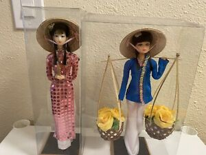 Chinese Dolls Old Style Figurine China Doll Sasco Lot Of 2 $19.99