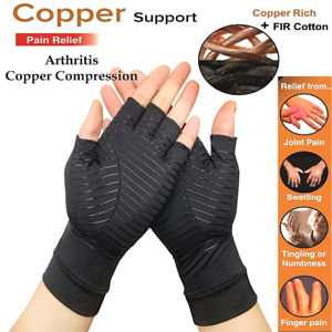 2pcs Copper Compression Arthritis Gloves Carpal Tunnel Joint Pain Relief Hand US $5.93