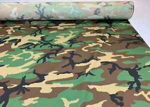 Woodlands Ny Co Ripstop Fabric 66quot;W Camo Fabric Camouflage Military Mil Spec