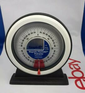EMPIRE PROTRACTOR f36 Magnetic Polycast Made USA Angles Construction Sattilite C $17.00