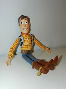 """Toy Story Talking Woody Pull String Doll 16"""" W Andy signed foot Works $24.99"""