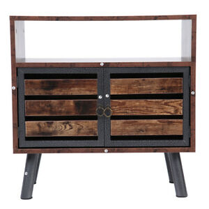 Retro Nightstand Table With Storage Drawer Wooden Wear and scratch resistance $52.99