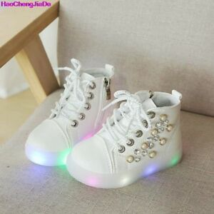 Kids Shoes Luminous Toddlers Glowing Child Baby Girls Led Sneakers With Light $30.88