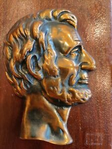 Antique Bronze Abraham Lincoln Mounted Bust $45.00