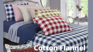 DELANNA Two Standard Flannel Pillowcases 100% Cotton Size 20quot; x 30quot; $13.99