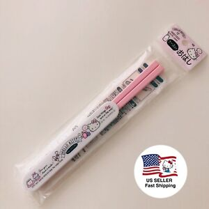 Hello Kitty Chopsticks 18cm with Sliding Case Sanrio Japan Kawaii F S